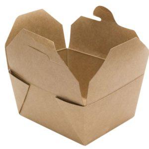 Papirnata posoda Tambien Eco 2100 ml 215x158x63 mm dvostrani karft (50 kos/pak)