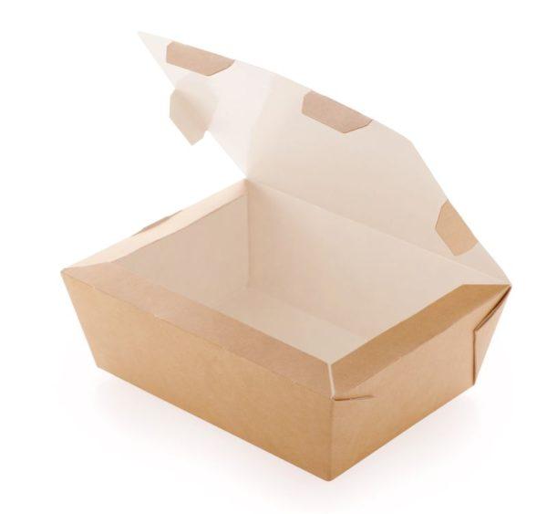 Papirnata posoda CRAFTBOX 600 ml 150x115x50 mm kraft (350 kos/pak)