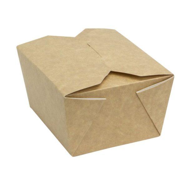 Papirnata posoda Fold Box 950 ml 170x135x50 mm kraft (400 kos/pak)