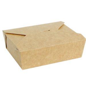 Papirnata posoda FOLD BOX, 600 ml, 130 x 110 x 65 mm, kraft (50 kos/pak)