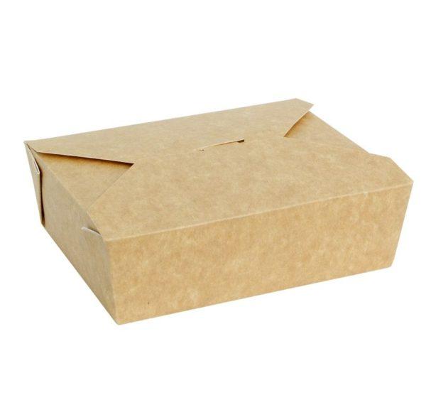 Papirnata posoda Fold Box 600 ml 130x110x65 mm kraft (50 kos/pak)