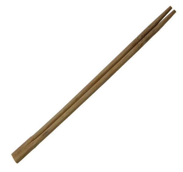 Lesene palčke za azijsko hrano ostre rjav, zavite posamezno (100 kos/pak)