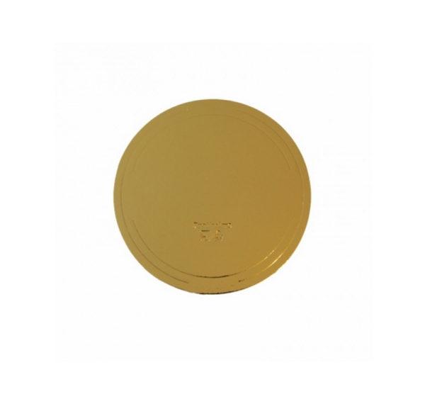 Okrogla kartonasta podlaga, d = 240 mm, zlato/biser