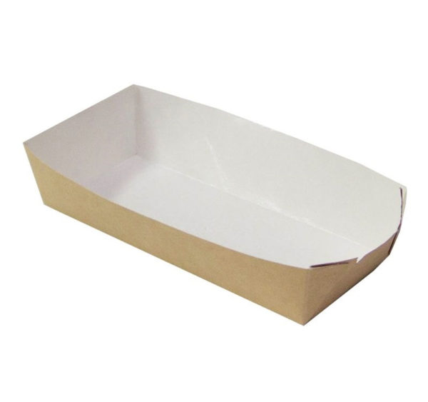 Papirnata ladjica za hot dog ECO HD, 450 ml,  165x70x40 mm kraft (800 kos/pak)