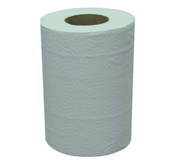 Brisača iz papirja 2sl 60m ToMoS centralna ekstrakcija bela