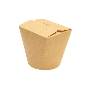 Papirnata posoda za WOK 700 ml kraft (50 kos/pak)