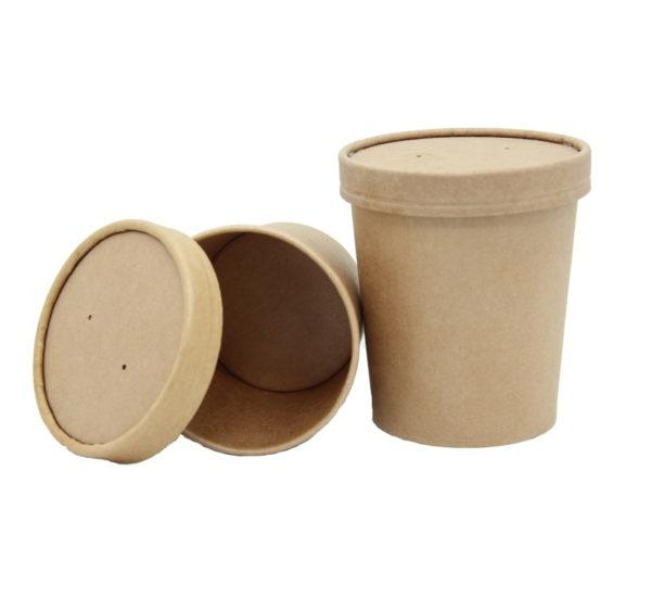 Papirnat pokrov za juho Tambien ECO, d = 90 mm, kraft (25 kos/pak)