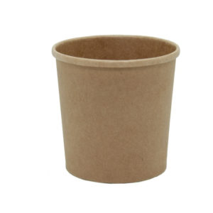 Papirnata posoda za juho Tambien ECO, 340 ml, d = 90 mm, h = 85 mm, kraft (25 kos/pak)