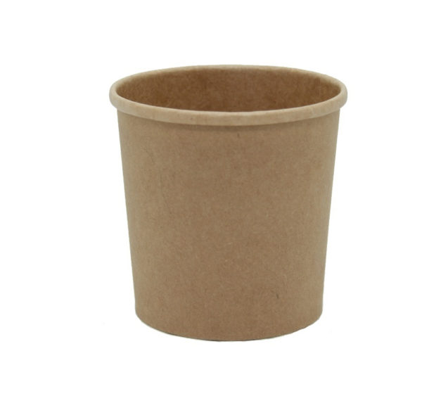 Papirnata posoda za juho Tambien ECO 340 ml d=90 mm h=85 mm kraft s pokrovom, 25 kos (komplet)