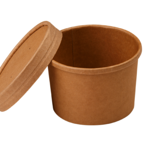 Posoda papirnata za juho Tambien ECO 240 ml d-90mm, h-60mm, kraft (25 kos/pak)