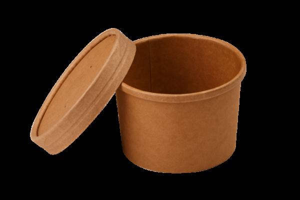 Papirnata posoda za juho Tambien ECO 240 ml d=90 mm h=60 mm kraft (25 kos/pak)