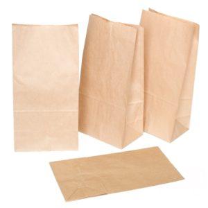 Papirnata vrečka 120x80x330 mm kraft (1000 kos/pak)