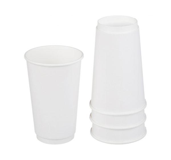 Papirnat kozarec 400 ml d=90 mm 2-slojni bel (18 kos/pak)