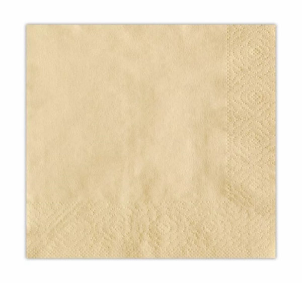 Papirnati prtički 2 sl 24×24 cm Tambien sampanjec 250 kos/pak
