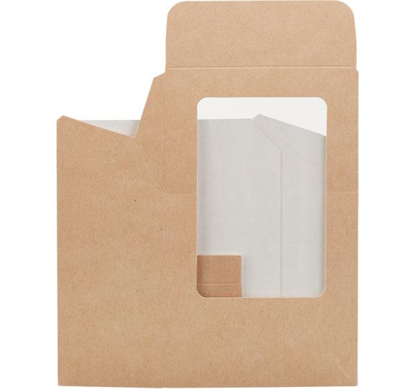 Wrap box z folijo 90x50x130 mm kraft (400 kos/pak)
