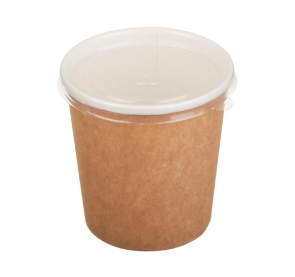 Papirnata posodica za tople jedi 500 ml rjava (50 kos/pak)