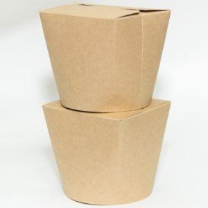 Papirnata posoda za WOK 500 ml kraft (30 kos/pak)