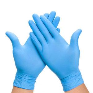 Rokavice nitril brez pudra modre 100 kos M