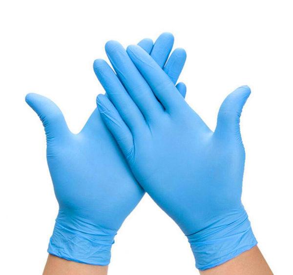 Rokavice nitril brez pudra modre 100 kos L