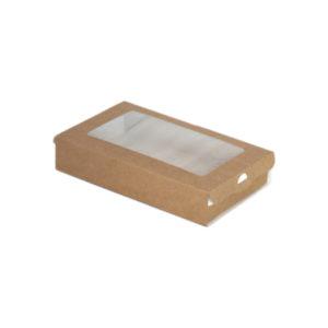 Papirnata posoda ECO CASE 300, 240 ml, 100 x 80 x 30 mm, kraft (800 kos/pak)