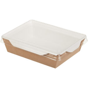 Papirnata posodica s prozornim oknom ECO OPSALAD 500 ml (300 kos/pak)