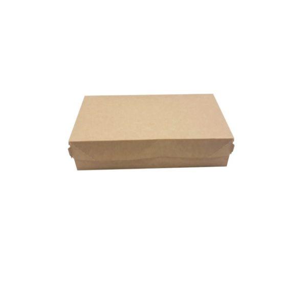 Papirnata škatla za torto in slaščice BIO CAKE 1900 ml 230х140х60 mm kraft (300 kos/pak)