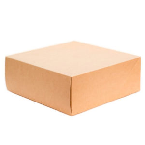 Škatla za torto in slaščice BIO CAKE 6000 ml kraft (25 kos/pak)