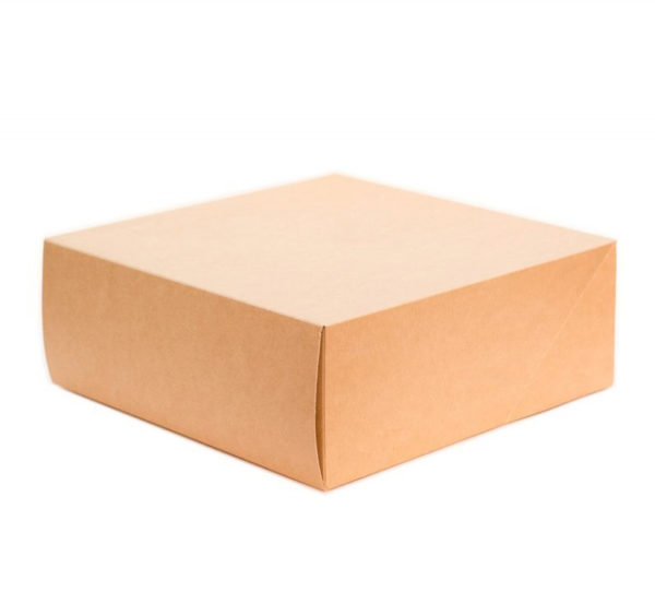 Škatla za torto in slaščice BIO CAKE 255x255x105 mm,  6000 ml kraft (15 kos/pak)