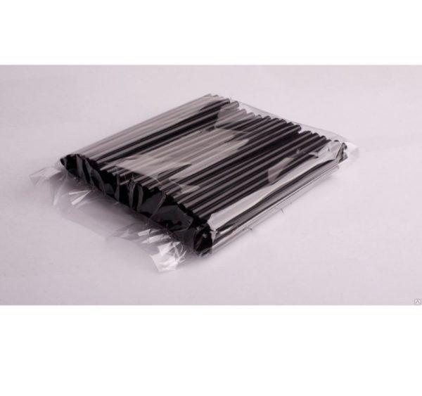 Ravne slamice za koktejle d=8 mm l=210 mm črne