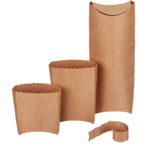 Embalaža za tortiljo, wrap 210x80x60 mm kraft (400 kos/pak)