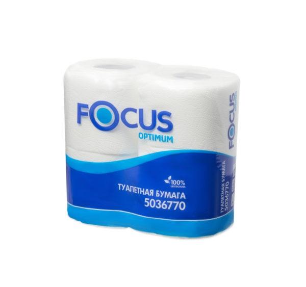 Toaletni papir dvoslojen  Focus Optimum beli