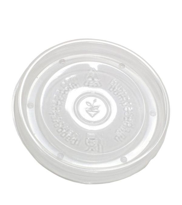 Pokrov PP za papirtano posodo 300 ml d=90 mm prozoren (50 kos/pak)