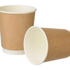 Papirnat kozarec 250 ml d=80 mm 2-slojni  Complement kraft (24 kos/pak)