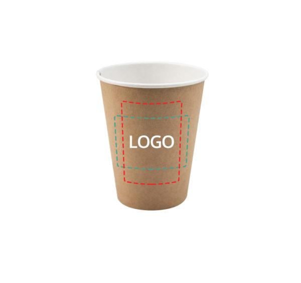 Papirnat kozarec 350 ml d=90 mm 1-slojni kraft (50 kos/pak)