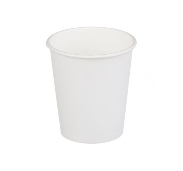 Kozarec papirni 2sl 250 (280)ml d=80mm za toplo bel (25 kos/pak)