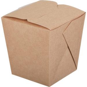 Papirnata posoda ECO NOODLES, 700ml, 81 x 81 x 106 mm, pravokotno dno, kraft (360 kos/pak)