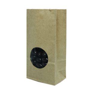 Papirnata vrečka s pravokotnim dnom 170х80х50 mm kraft, okno 5 (900 kos/pak)