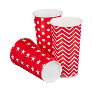 Papirnat kozarec za hladne napitke 500 (650) ml enoslojen LOLIPOP (50 kos/pak)