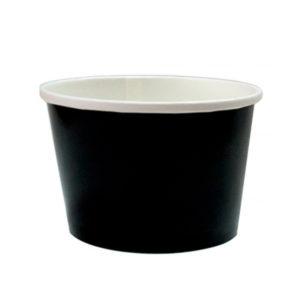 Papirnata posoda, 500 ml, d = 98 mm, h = 99 mm, črna, za vroče (50 kos/pak)