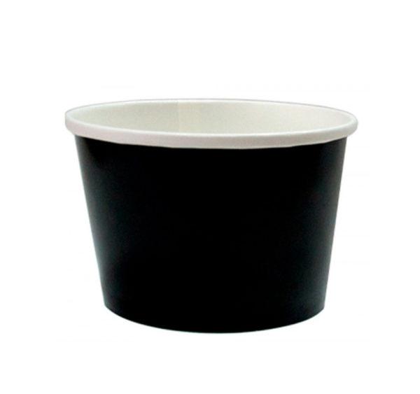 Papirnata posoda za juho 500 ml d=98 mm h=99 mm črna (50 kos/pak)
