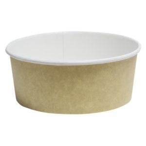 Papirnata posoda, 750 ml, d = 146 mm, h = 65 mm, kraft, za solato, 50 kos (komplet)