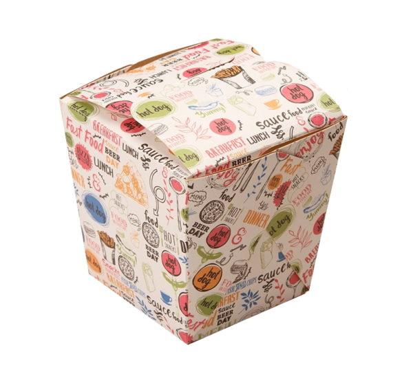 Papirnata posoda ECO NOODLES Enjoy 560 ml 95x95x100 mm (420 kos/pak)