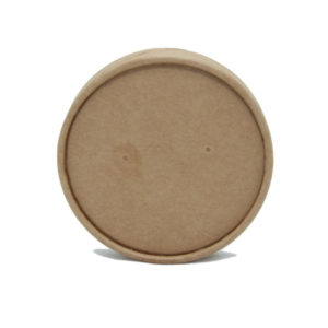Papirnat pokrov za juho Tambien ECO, d = 97 mm, kraft (25 kos/pak)