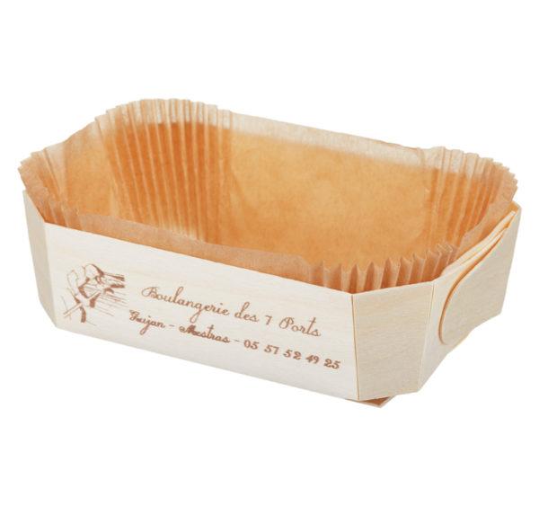 Posoda za peko lesena za enkratno uporabo DUC 175x110x60mm (100 kos/pak)