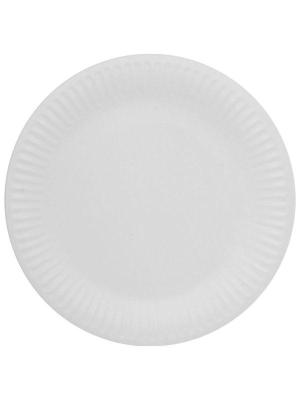 Papirnat krožnik d=230 mm Snack Plate bel laminiran (100 kos/pak)
