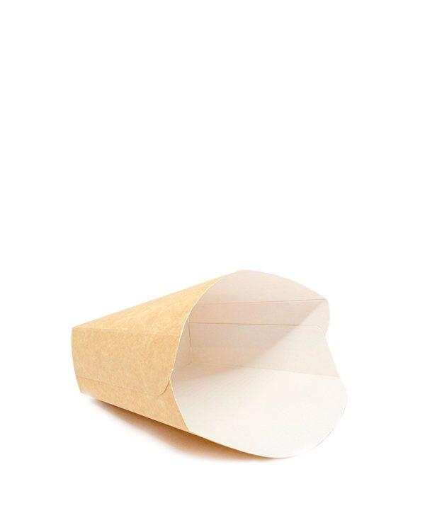 Žepek za krompirček Fry Pack 100x45x110 mm kraft (35 kos/pak)