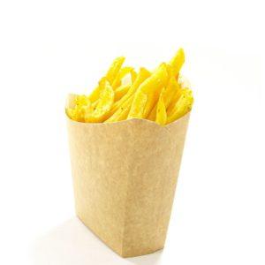 Žepek za krompirček Fry Pack 115х45х123 mm kraft (50 kos/pak)