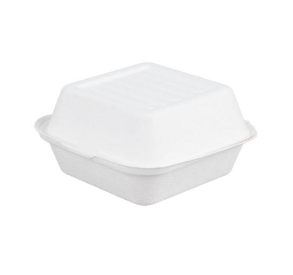 Burger embalaža PULP Tambien ECO 150x150x78 mm bela (125 kos/pak)