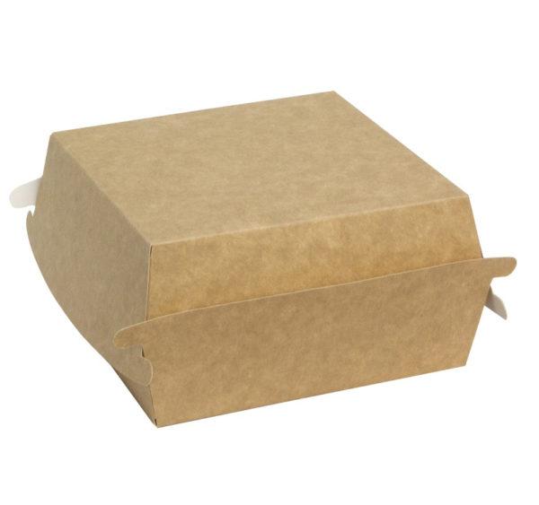 Škatla za burger Combi box 120x120x70 mm kraft (50 kos/pak)