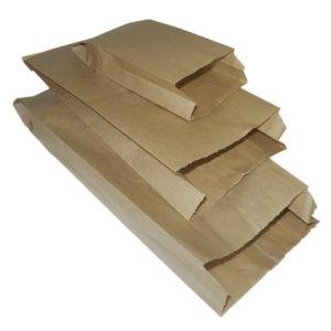 Vrečka papirnata 175x65x250 mm, kraft (3300 kos/pak)